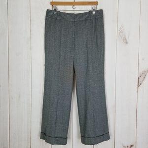 Talbots | Career Wool Linen Black Tweed Pants 14P